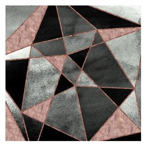 Blush Geo Abstract 1 by Alicia Vidal