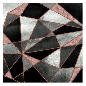 Blush Geo Abstract 2 by Alicia Vidal