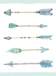 Boho Arrows Blue by Alicia Vidal