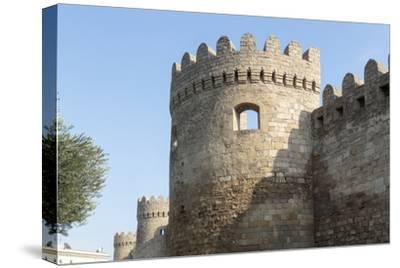 Azerbaijan, Baku. A Tower on the Outer Wall of the Palace of the Shirvanshahs