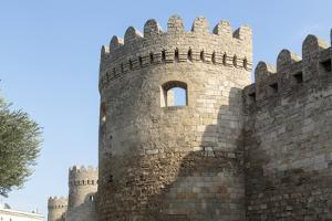 Azerbaijan, Baku. A Tower on the Outer Wall of the Palace of the Shirvanshahs by Alida Latham