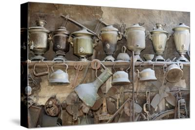 Azerbaijan, Lahic. A Collection of Antique Kettles and Pitchers