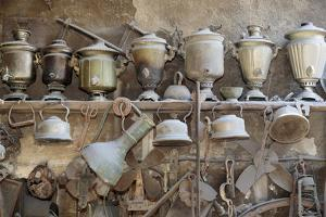 Azerbaijan, Lahic. A Collection of Antique Kettles and Pitchers by Alida Latham