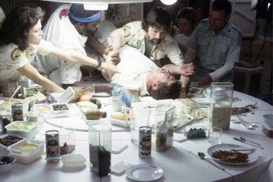 Alien, 1979 directed by Ridley Scott with Sigourney Weaver, Yaphet Kotto, John Hurt, Tom Skerritt a--Photo