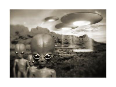 Alien Contact In the 1940s, Artwork-Detlev Van Ravenswaay-Giclee Print