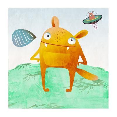 Alien Friend Number 4-Skip Teller-Giclee Print