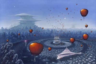 Alien Life Forms, Artwork-Richard Bizley-Photographic Print