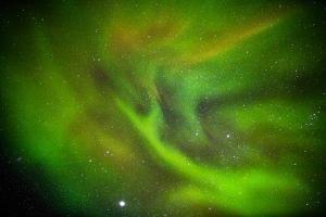 Alien Like Patterns in the Auroras, Aurora Borealis or Northern Lights, Lapland,Sweden