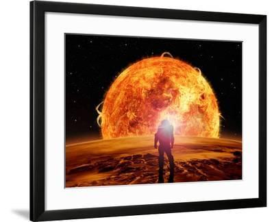 Alien Planet Fantasy Space Scene-Keith Tarrier-Framed Art Print