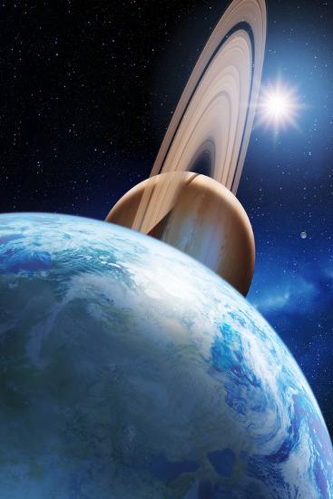 Alien Planetary System-Detlev Van Ravenswaay-Photographic Print