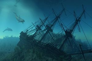 Shipwreck Beneath The Sea by AlienCat