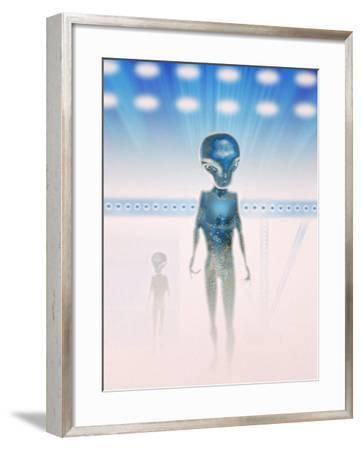 Aliens in a Space Ship-Carol & Mike Werner-Framed Photographic Print
