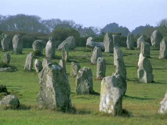 Alignments of Megalithic Standing Stones, Carnac, Morbihan, Brittany, France, Europe-J P De Manne-Photographic Print