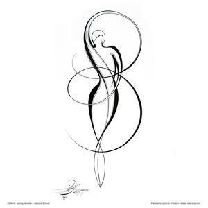 Dancing Silouhette I by Alijan Alijanpour