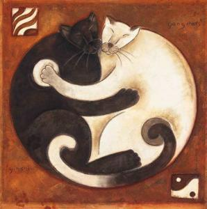 Yin Chi Yang Cats by Aline Gauthier