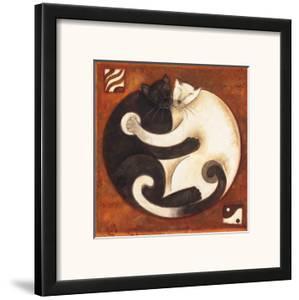 Yin Chi Yang Cats by Aline Gauthier