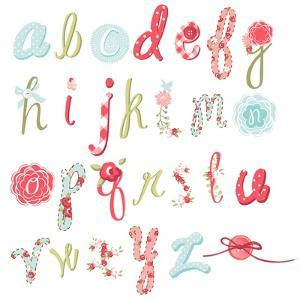 Unique Vector Flower Font. Amazing Hand Drawn Alphabet. by Alisa Foytik