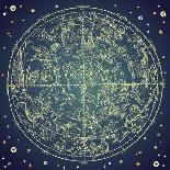 Vintage Zodiac Constellation Of Northern Stars-Alisa Foytik-Art Print