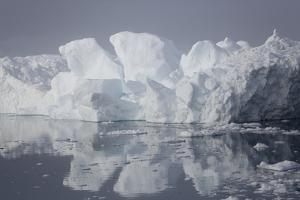 Greenland, Ilulissat, Iceberg from Glacier Sermeq Kujalleq on a Grey Day by Aliscia Young