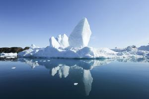Greenland, Ilulissat Icefjord, Sculptural Icebergs with Reflections by Aliscia Young