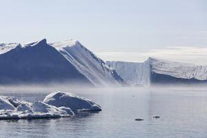 Greenland, Ilulissat Icefjord, Tabular Icebergs and Sea Water by Aliscia Young