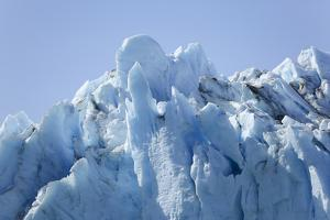 Greenland, Southeast Coast, Skjoldungen Fjord. Thryms Glacier, Detail of Icy Glacier Top by Aliscia Young