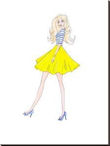 Alison Yellow Skirt by Alison B Illustrations