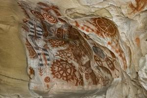 California, Santa Barbara, Chumash Painted Cave, Rock Art by Alison Jones