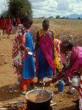 Maasai Women Cooking for Wedding Feast, Amboseli, Kenya-Alison Jones-Photographic Print