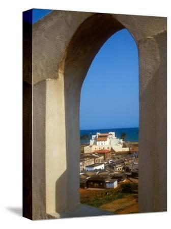 St George's Castle Through Arched Window at St Jago Fort, Elmina Castle, Elmina, Ghana