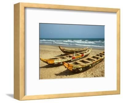 Traditional Fishing Boats on Kokrobite Beach, Greater Accra Region, Gulf of Guinea, Ghana