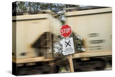Washington State, Palouse, Whitman County. Freight Train Carrying Potash for Canpotex Ltd