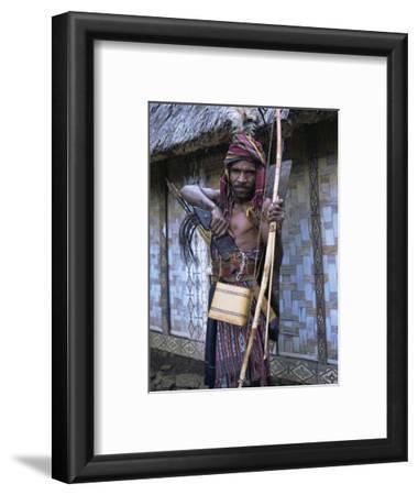 Abui Tribal Headhunter in Warrior Dress, Alor Island, Eastern Area, Indonesia, Southeast Asia