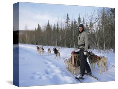 Dog Sledding with Aventure Inukshuk, Quebec, Canada