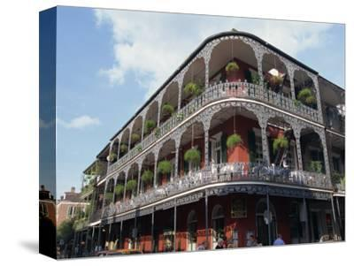 Exterior of a Building with Balconies, French Quarter Architecture, New Orleans, Louisiana, USA