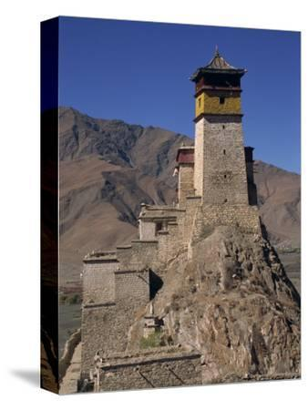 Exterior of Tower at Yumbu Lhakang, the Oldest Dwelling in Tibet, Central Valley of Tibet, China