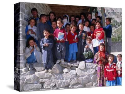 Group of Children Outside School, Gulmit, Upper Hunza Valley, Pakistan, Asia