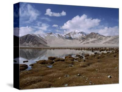 High Mountain Lake and Mountain Peaks, Beside the Karakoram Highway, China