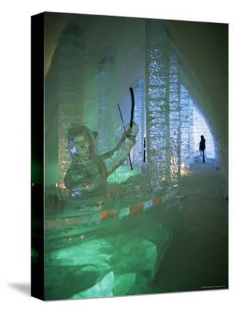 Ice Sculptures, Ice Hotel, Quebec, Quebec, Canada