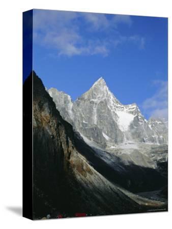 Kya Jo Ri Mountain from Machermo, Machermo, Himalayas, Nepal, Asia