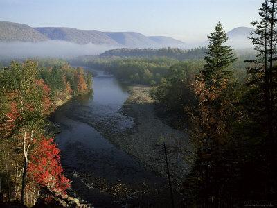 River in Margaree Valley, Cape Breton, Canada, North America