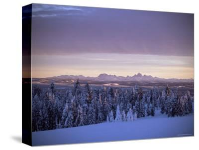 Sunset on Grand Tetons from Two Tops, West Yellowstone, Montana, USA