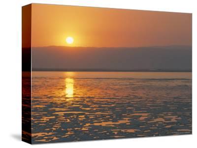 Sunset on the Dead Sea, Jordan, Middle East