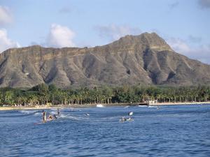 View of Diamond Head Crater, Oahu, Hawaii, Hawaiian Islands, USA by Alison Wright