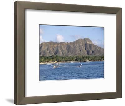 View of Diamond Head Crater, Oahu, Hawaii, Hawaiian Islands, USA