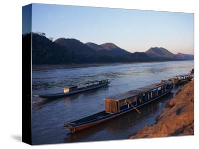 View of Mekong River at Sunset, Luang Prabang, Laos, Indochina, Southeast Asia