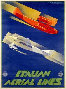 Alitalia Italian Airlines Poster