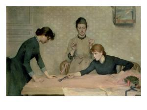 The Sewing Class by Alix d' Anethan