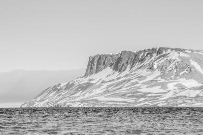 Alkefjellet (Auk Mountain) at Kapp Fanshawe, Spitsbergen, Svalbard, Norway, Scandinavia, Europe-Michael Nolan-Photographic Print