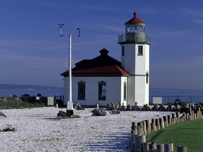Alki Point Lighthouse on Elliot Bay, Seattle, Washington, USA--Photographic Print